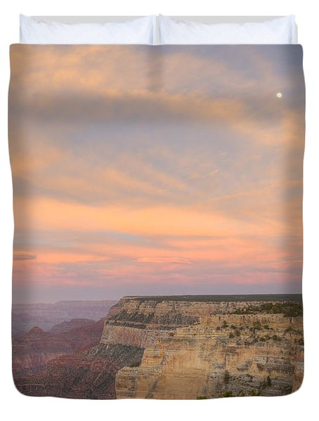 Duvet Cover featuring the photograph Sunset At Powell Point by Alan Vance Ley