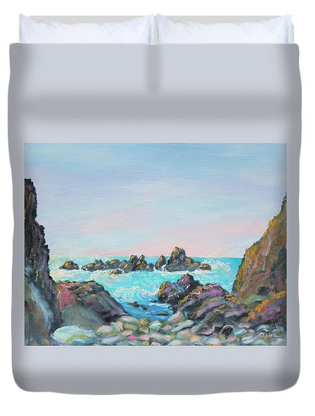 Sunset At Reef Cove Duvet Cover