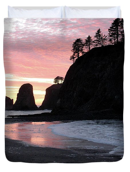 Sunset At Rialto Beach 1 Duvet Cover