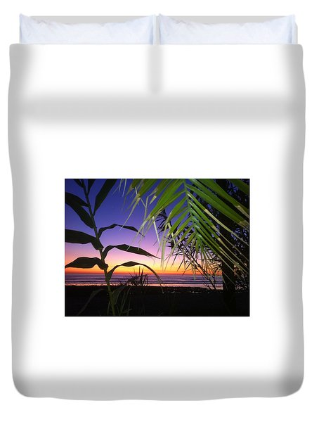 Sunset At Sano Onofre Duvet Cover