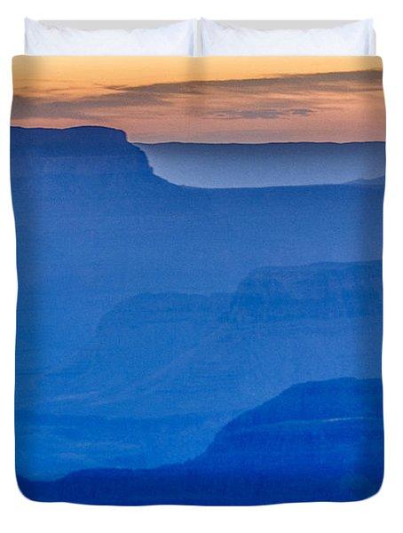 Sunset At South Rim Duvet Cover