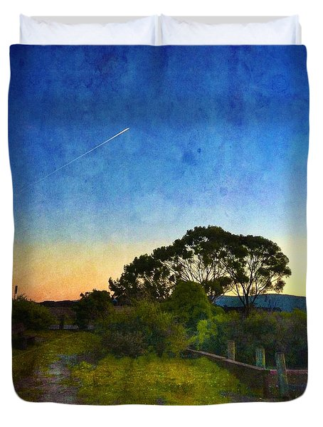 Sunset At The Baylands Duvet Cover