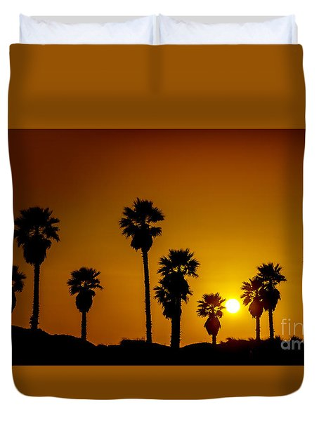 Sunset At The Beach Large Canvas Art, Canvas Print, Large Art, Large Wall Decor, Home Decor Duvet Cover