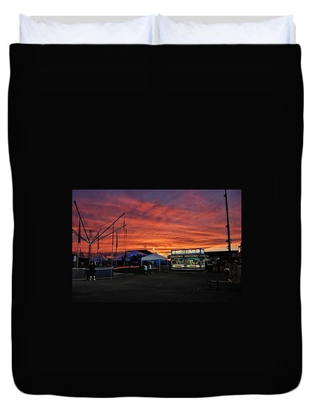 Sunset At The Fair Duvet Cover