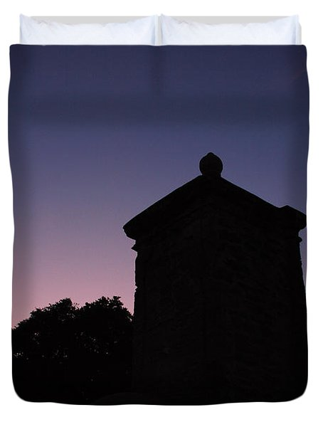Sunset At The Gate Duvet Cover