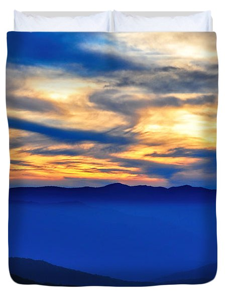 Sunset At The Max Duvet Cover