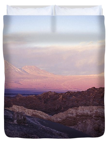 Duvet Cover featuring the photograph Sunset At The Valley Of The Moon by Lana Enderle