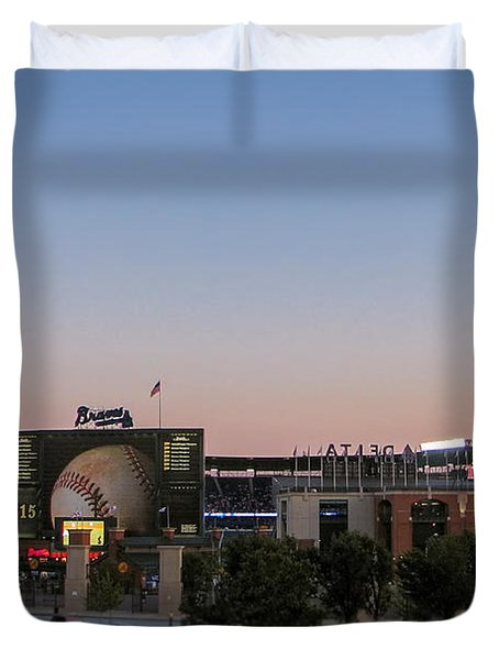 Sunset At Turner Field Duvet Cover