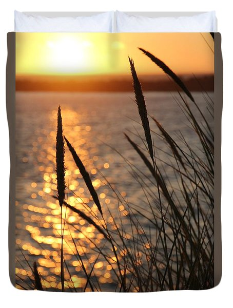 Sunset Beach Duvet Cover by Athena Mckinzie