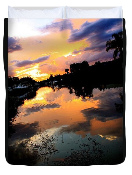 Sunset Bay Duvet Cover by AR Annahita