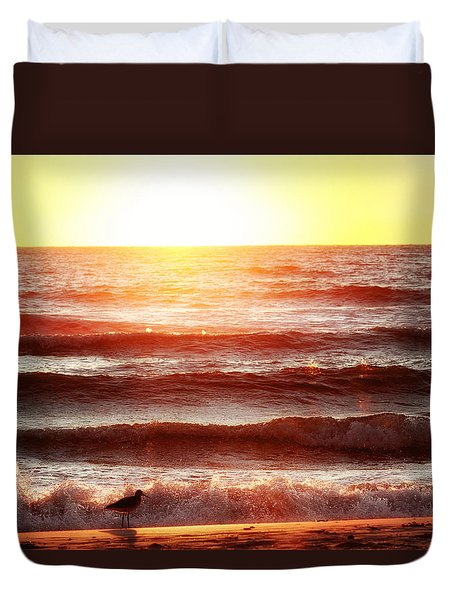 Sunset Beach Duvet Cover
