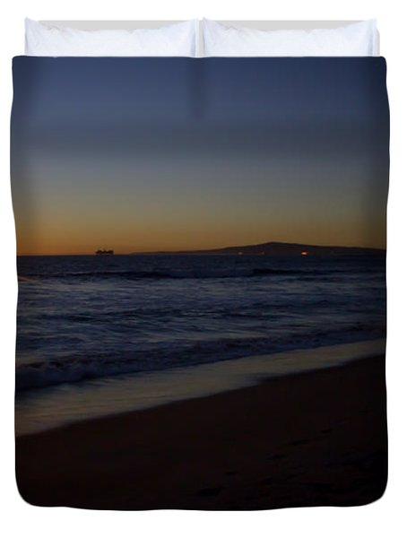Sunset Beach Duvet Cover by Heidi Smith
