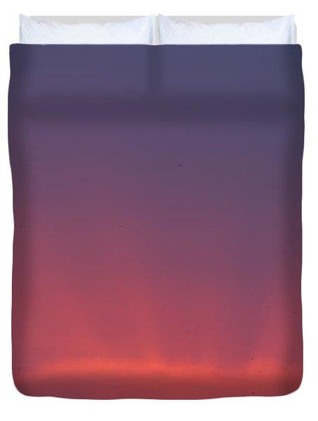 Sunset Beams Duvet Cover