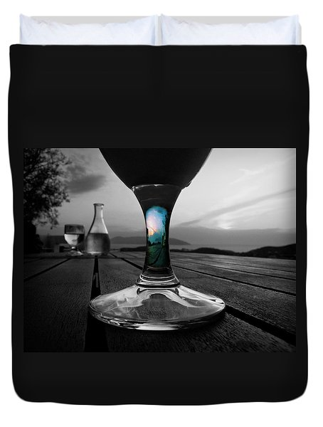 Sunset Cafe Duvet Cover