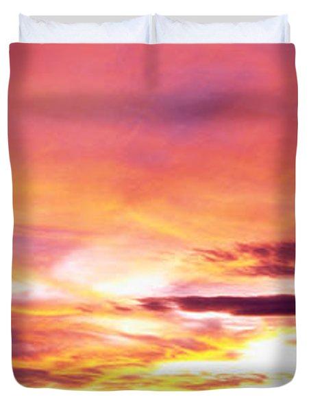 Sunset, Canyon De Chelly, Arizona, Usa Duvet Cover