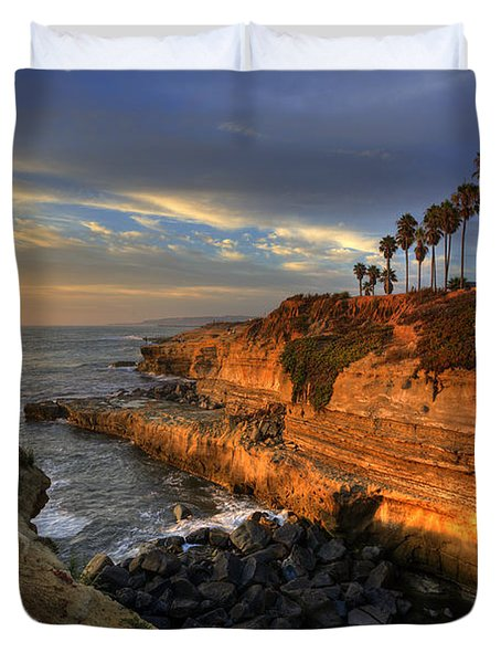 Sunset Cliffs Duvet Cover