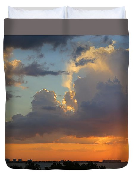 Sunset Shower Sarasota Duvet Cover
