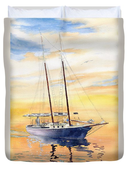Sunset Cruise Duvet Cover by Melly Terpening