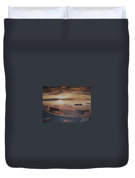 Sunset Evening Tide Duvet Cover