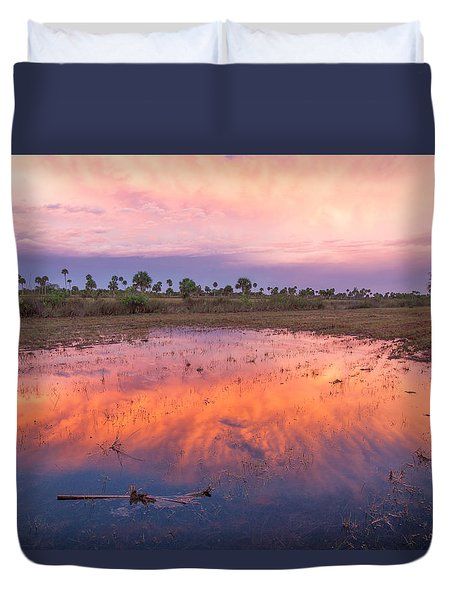 Everglades Afterglow Duvet Cover