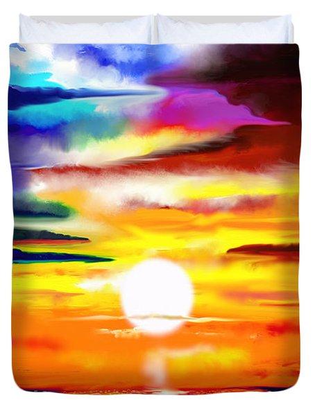 Sunset Explosion Duvet Cover