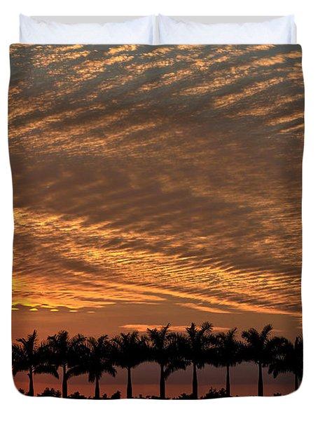 Sunset Florida Duvet Cover