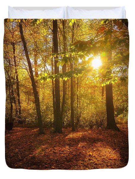 Sunset Forest Duvet Cover