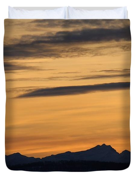 Duvet Cover featuring the photograph Sunset From 567 by Ann E Robson