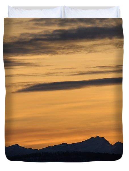 Sunset From 567 Duvet Cover