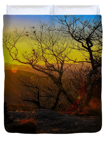 Sunset From Blood Mountain Duvet Cover
