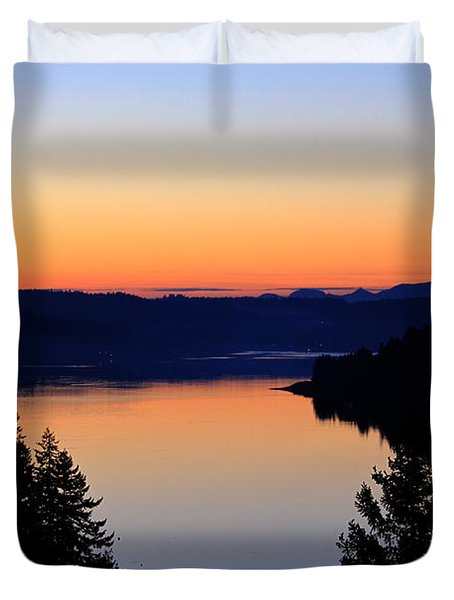 Sunset From The Deck Duvet Cover