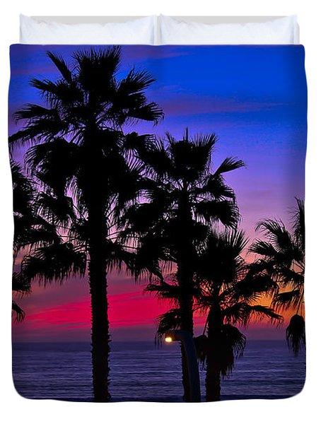 Sunset From The Ocean Park Inn Duvet Cover