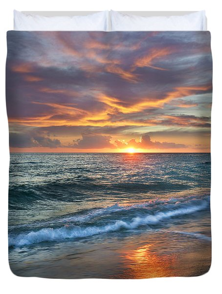 Duvet Cover featuring the photograph Sunset Gulf Islands National Seashore by Tim Fitzharris