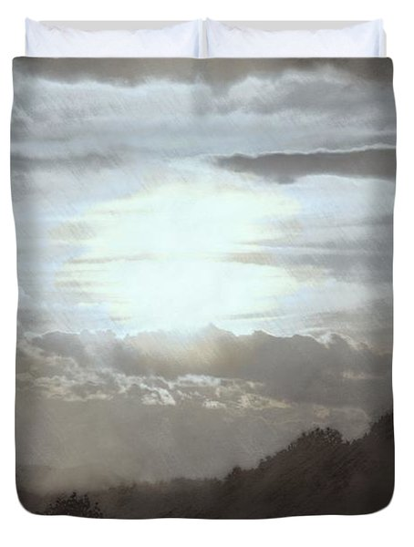 Duvet Cover featuring the photograph Sunset Impressions Over The Blue Ridge Mountains by Photographic Arts And Design Studio