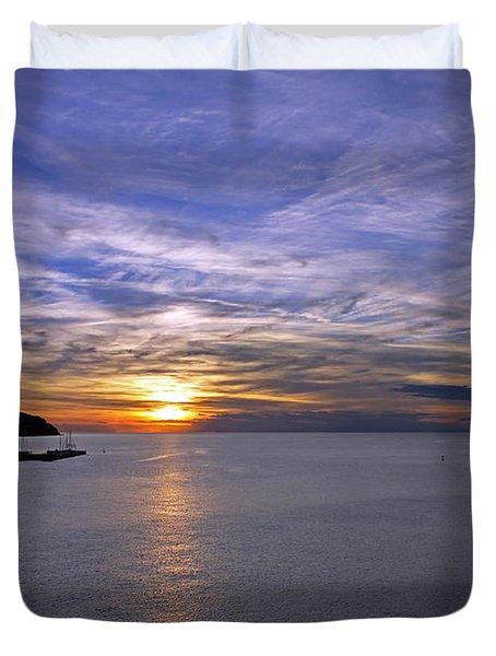 Sunset In Adriatic Duvet Cover