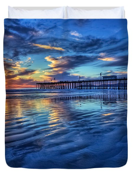 Sunset In Blue Duvet Cover