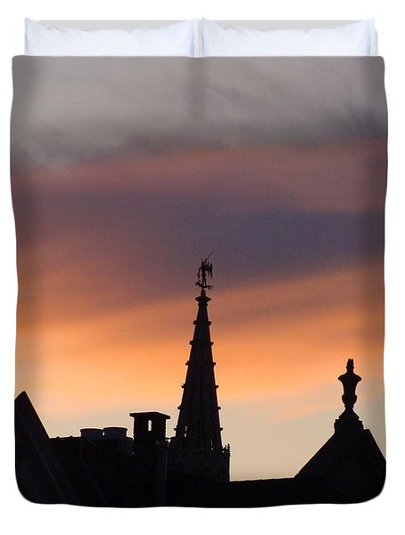Sunset In Brussels Duvet Cover