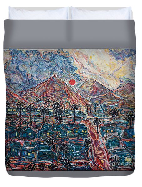 Sunset In California Duvet Cover