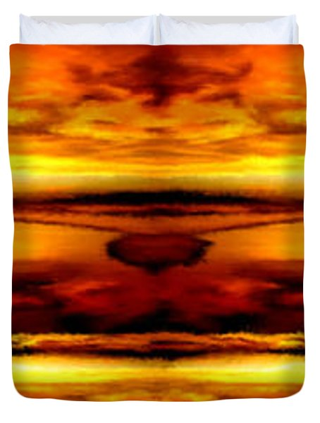 Sunset In Heaven Duvet Cover