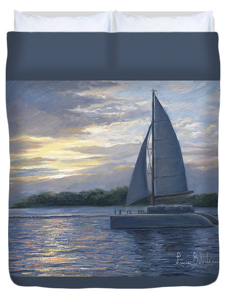 Sunset In Key West Duvet Cover