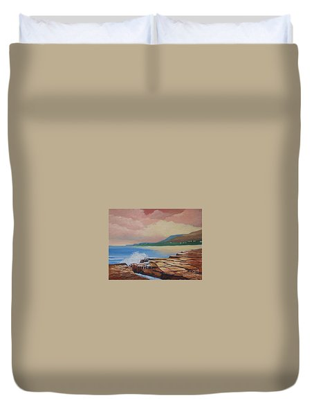 Sunset In New South Wales Duvet Cover