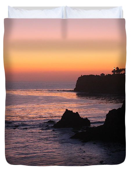Sunset In Paradise Duvet Cover by Bev Conover