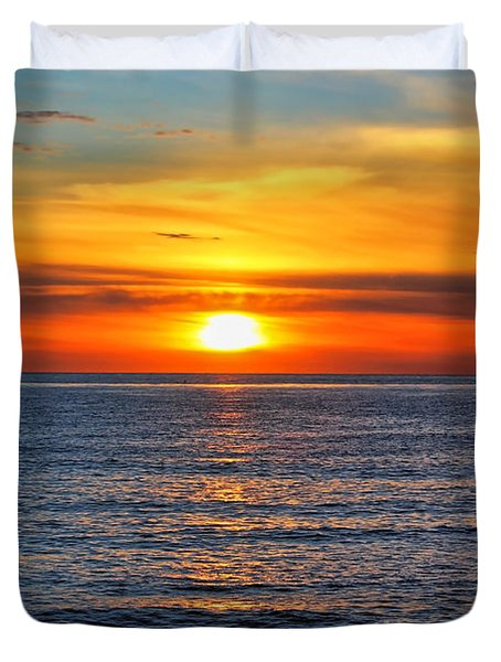 Sunset In San Clemente Duvet Cover by Mariola Bitner