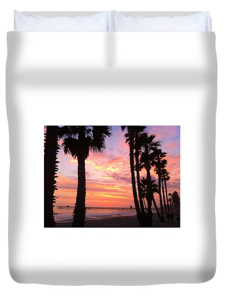 Sunset In San Clemente Duvet Cover