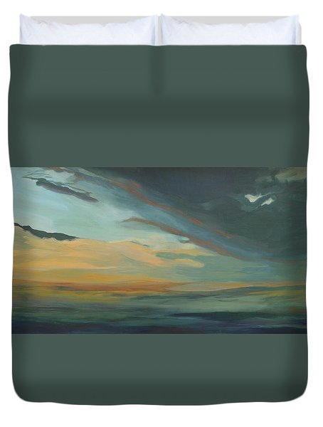 Sunset In St. Petersburg Duvet Cover