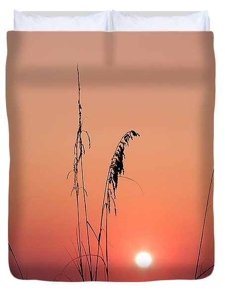 Sunset In Tall Grass Duvet Cover by Bill Cannon