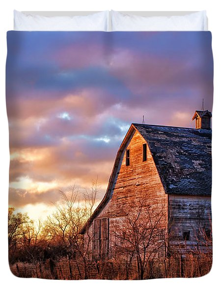 Sunset In The Country Duvet Cover
