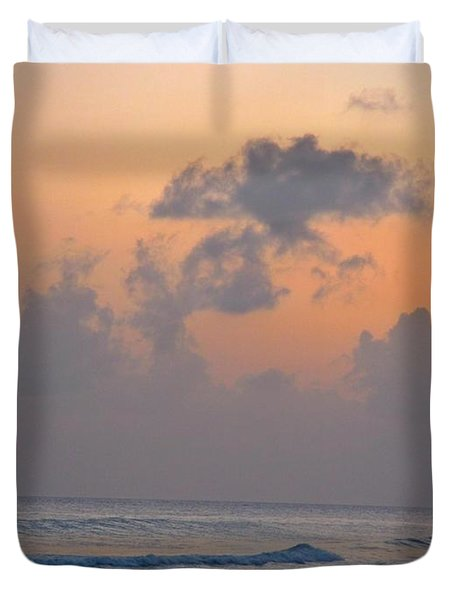Sunset In The Tropics Duvet Cover by John Malone