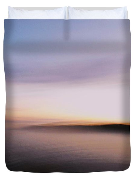 Duvet Cover featuring the photograph Sunset Island Dreaming by Andy Prendy