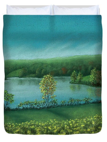 Sunset Lake C Duvet Cover